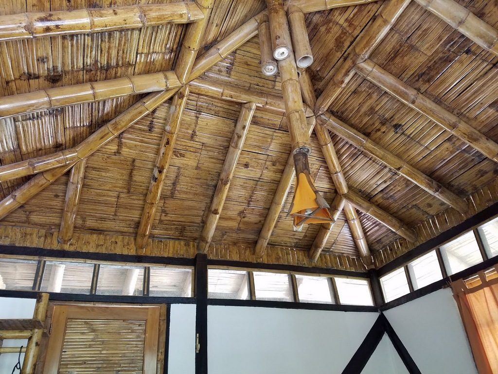 Our room's ceiling at Maquipucuna Eco Lodge