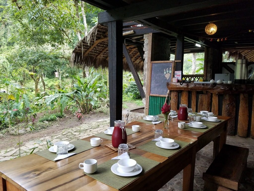 The dining area at Maquipucuna Eco Lodge