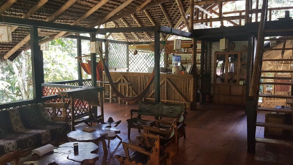 The lounge are at Maquipucuna Eco Lodge