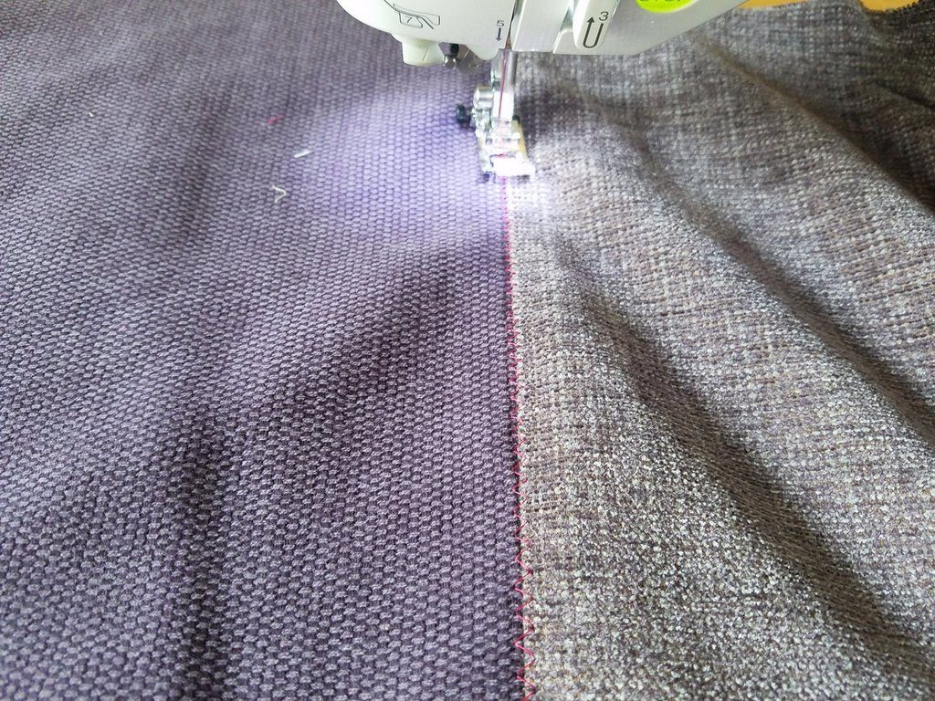 Top sewing the background fabrics